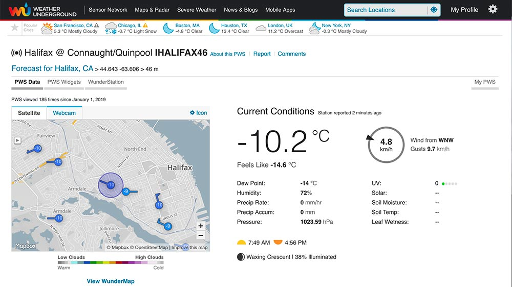 Weather Underground Dashboard